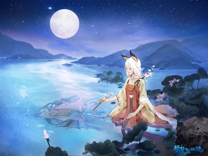 《新倩女幽魂》青丘玩法——赤檀月下画恒,将隐秘的心思诉诸笔
