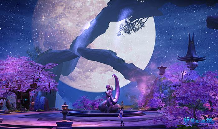《新倩女幽魂》青丘玩法——大型狐族神像矗立于广场中央